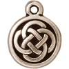 Charm Celtic Round Antique Silver